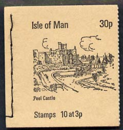 Booklet - Isle of Man 1973 Peel Castle 30p booklet (stone cover) complete and fine, SG SB3
