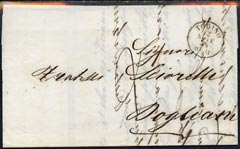 Italy 1854 pre stamp entire with TORINO date stamp