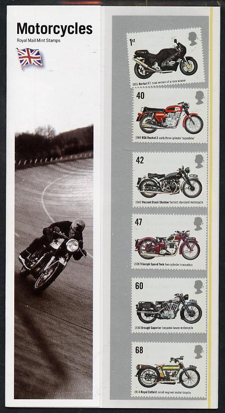 Great Britain 2005 Motorcycles perf set of 6 in official presentation pack unmounted mint SG 2548-53