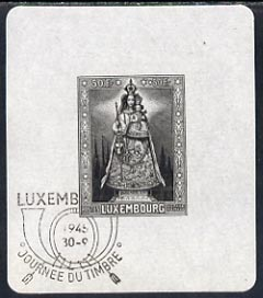 Luxembourg 1945 Our Lady of Luxembourg imperf m/sheet with first day cancel, SG MS468a