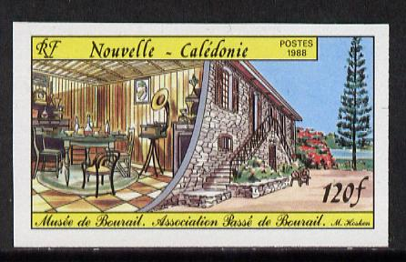 New Caledonia 1988 Bourail Museum 120f imperf from limited printing unmounted mint, as SG 833*