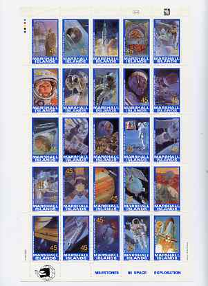 Marshall Islands 1989 Space Achievements complete set of 25 unmounted mint