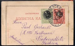 Serbia 1903 10p postal stationery card to