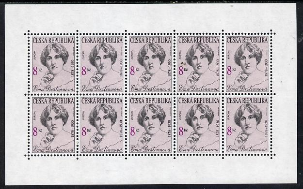 Czech Republic 1996 Europa - Famous Women - Ema Destinnova (singer) perf sheetlet of 10 values, unmounted mint, SG 130