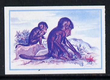 Lesotho 1984 Chacma Baboons 20s (from Baby Animals issue) imperf progressive proof in magenta & blue only*