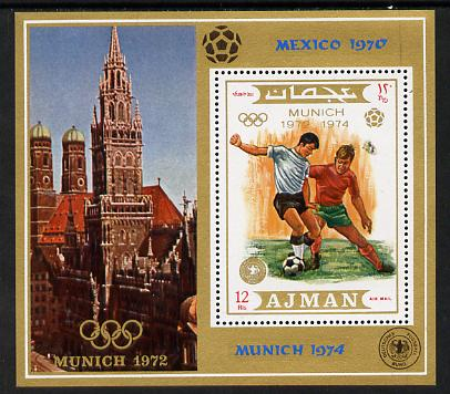 Ajman 1971 Olympic Footballers m/sheet unmounted mint (Mi BL 337A)