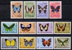 Papua New Guinea 1966 Butterflies definitive set complete 12 values mtd mint, SG 82-92