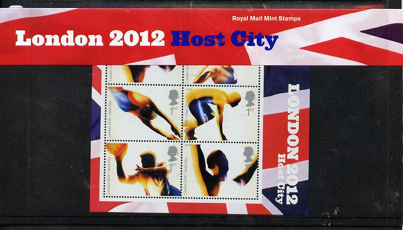 Great Britain 2005 London 2012 Host City for Olympic games perf m/sheet in official presentation pack unmounted mint SG MS 2554