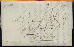 Great Britain 1837 pre-stamp Edinburgh to Wigton rated 1/8 endorsed