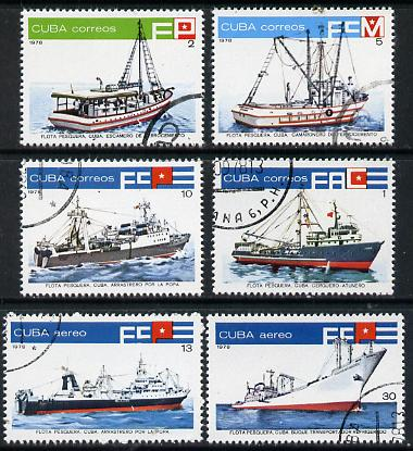 Cuba 1978 Fishing Boats cto set of 6, SG 2487-92*