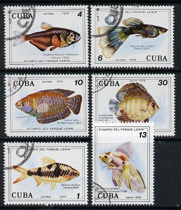 Cuba 1978 Fish cto set of 6, SG 2460-65*