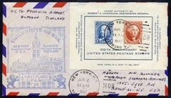 United States 1947 First Flight cover to Scotland with special FAM 24 cachet