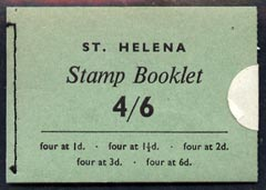 Booklet - St Helena 1962 4s6d booklet complete and very fine, SG SB1