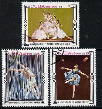 Cuba 1978 National Ballet cto set of 3, SG 2510-12*