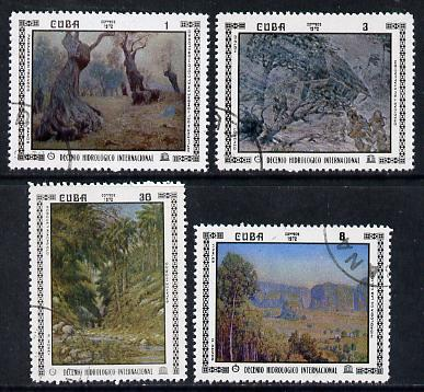 Cuba 1972 Hydrological Decade cto set of 4 (Paintings), SG 1955-58*