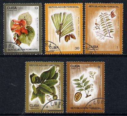 Cuba 1975 Reafforestation cto set of 5 (Trees), SG 2222-26*