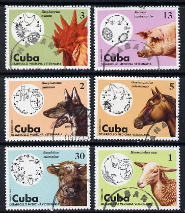 Cuba 1975 Veterinary Medicine cto set of 6, SG 2248-53*