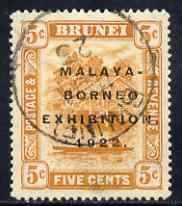Brunei 1922 Malaya-Borneo Exhibition 5c fine used with