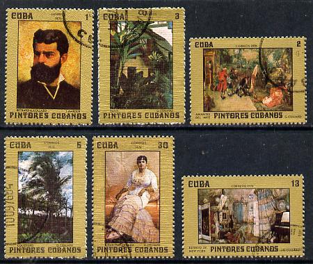 Cuba 1976 Cuban Paintings cto set of 6, SG 2312-17*