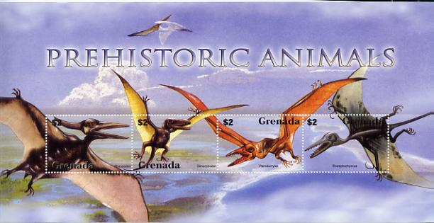 Grenada 2005 Prehistoric Animals perf sheetlet containing 4 values unmounted mint, SG MS 2026