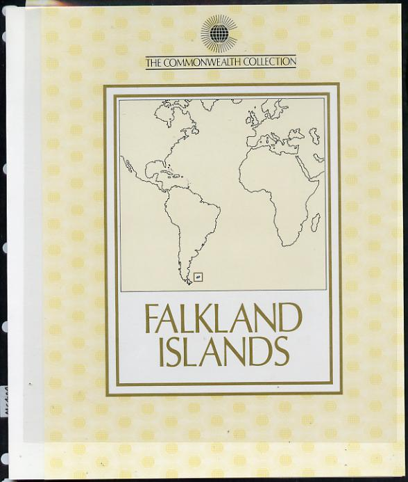 Falkland Islands 1983 Commonwealth Day Presentation black print specially authorised for the Commonwealth Collection and limited to just 20,000 in folder complete with issued stamps