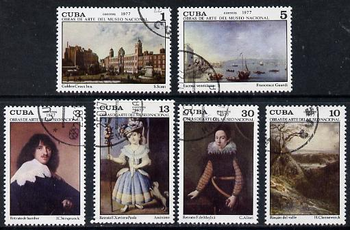 Cuba 1977 National Museum Paintings (11th series) cto set of 6, SG 2345-50*