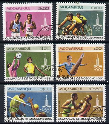 Mozambique 1980 Olympic Games, Moscow cto set of 6, SG 826-31*
