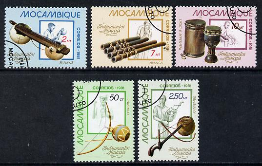 Mozambique 1981 Musical Instruments cto set of 5, SG 864-68*