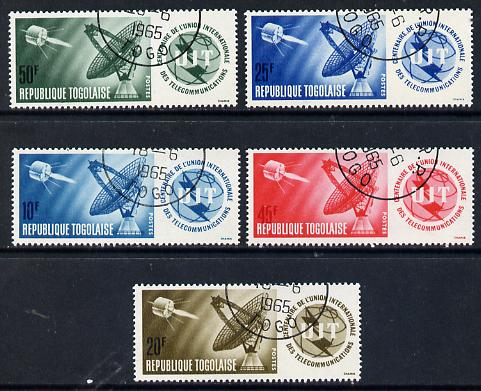Togo 1965 ITU Centenary cto used set of 5, SG 408-12*