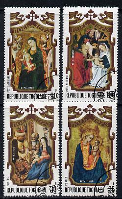 Togo 1973 Christmas cto set of 4 (Paintings), SG 974-77*