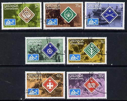 Grenada - Grenadines 1975 World Scout Jamboree cto set of 7, SG 84-90