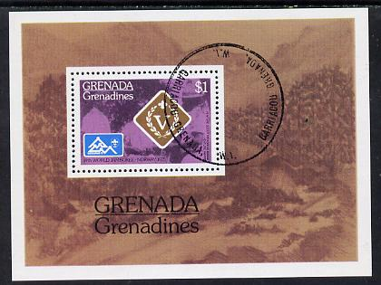 Grenada - Grenadines 1975 World Scout Jamboree cto m/sheet SG MS 91