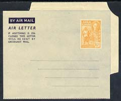 Aerogramme - Gold Coast KG6 6d air letter form unused, light diagonal crease