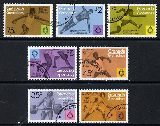 Grenada - Grenadines 1975 Pan American Games cto set of 7, SG 103-109