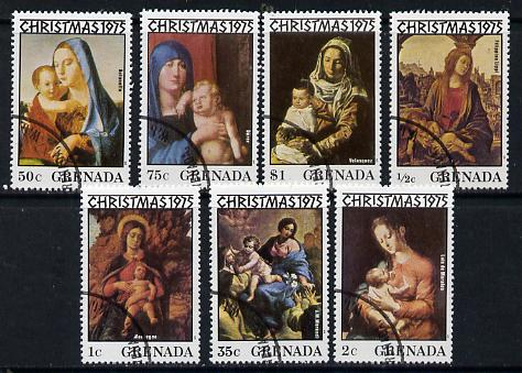 Grenada 1975 Christmas cto set of 7, SG 753-59