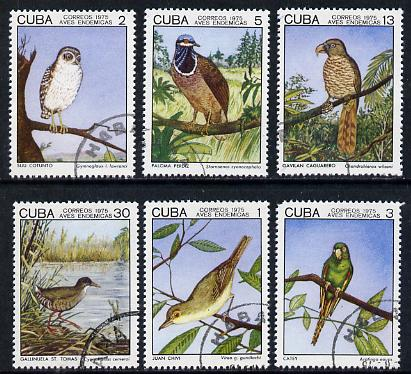 Cuba 1975 Birds #1 set of 6 very fine cto used, SG 2214-19*