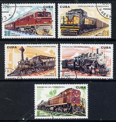 Cuba 1975 Evolution of Railways cto set of 5, SG 2242-46*