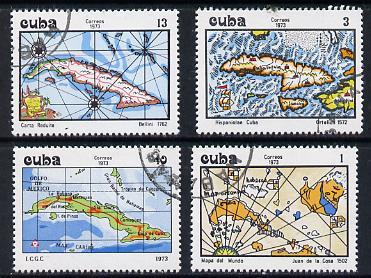 Cuba 1973 Maps of Cuba cto set of 4, SG 2082-85*