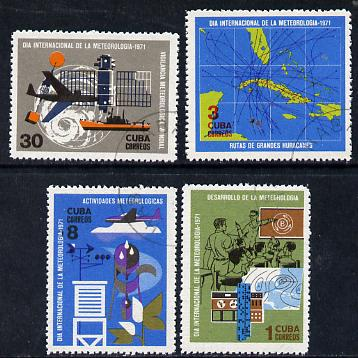 Cuba 1971 Meteorological Day cto set of 4, SG 1820-23*