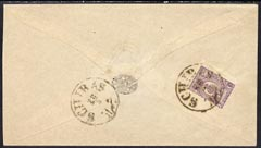 Iran 1889c Native addressed cover bearing 1889 5c mauve well tied