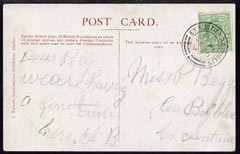Ireland 1907 PPC (Irish International Exhibition) bearing Great Britain 1/2d with exhibition cancel to Co Antrim