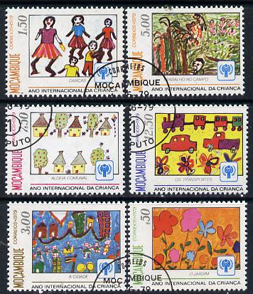 Mozambique 1979 Int Year of the Child (Paintings) cto set of 6 SG 754-59*