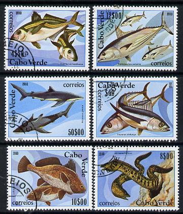 Cape Verde Islands 1980 Marine Life cto set of 6, SG 486-91, Mi 419-24*