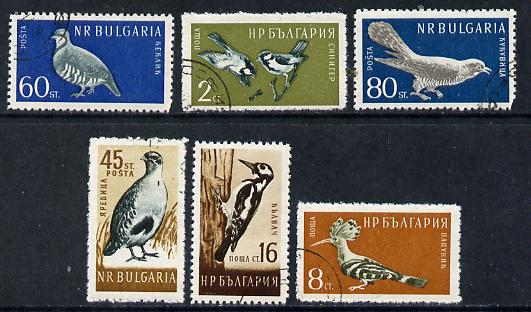 Bulgaria 1959 Birds cto used set of 6, SG 1140-45,  Mi 1116-21