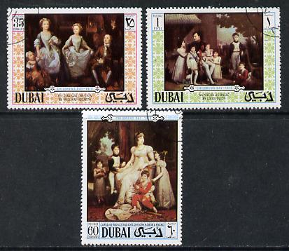 Dubai 1970 Children's Day (Paintings) perf set of 3 cto used, SG 359-61*
