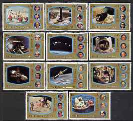 Fujeira 1972 Apollo Space Programme perf set of 11 cto used, Mi 1344-54*
