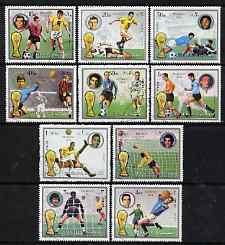 Fujeira 1972 Football World Cup set of 10 cto used Mi 1391-1400*