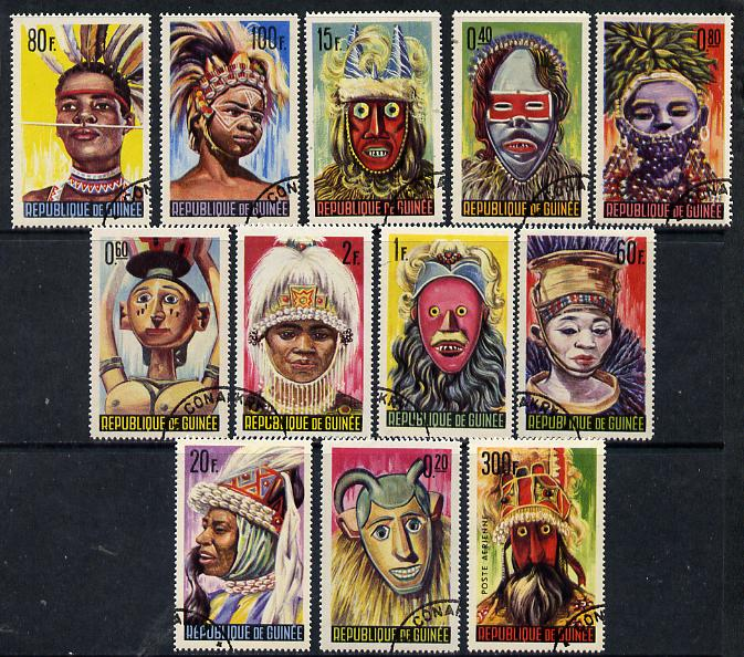 Guinea - Conakry 1965 Native Masks & Dancers cto set of 12, SG 472-83*
