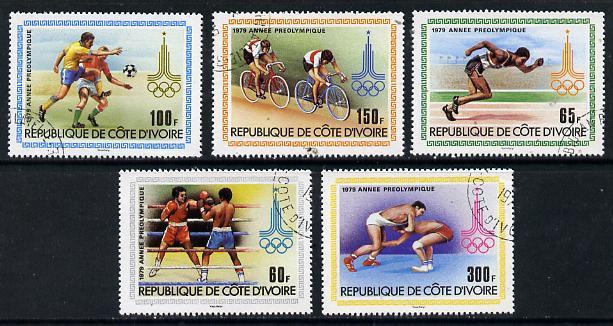 Ivory Coast 1979 Pre Olympic Year cto set of 5, SG 607-11*