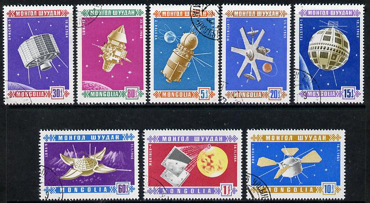 Mongolia 1966 Satellites cto set of 8, SG 428-35*